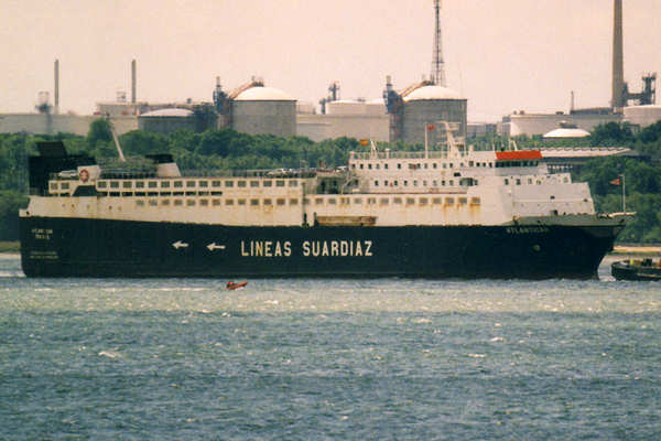 Atlanticar pictured arriving in Southampton on 28th May 2000