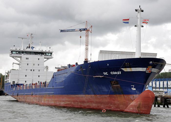 Atlantic Coast pictured being renamed in Waalhaven, Rotterdam on 24th June 2012