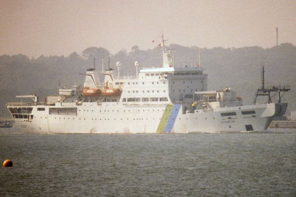 Atlantida pictured arriving in Southampton on 14th August 1996