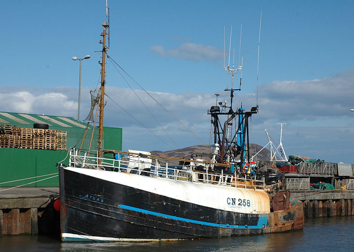Atlas pictured at Campbeltown on 3rd May 2010