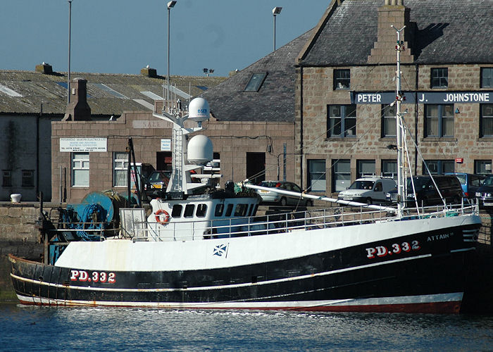 Attain II pictured at Peterhead on 28th April 2011