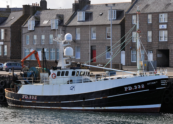 Attain II pictured at Peterhead on 15th April 2012