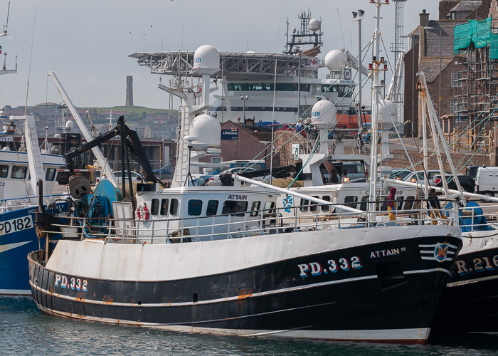 Attain II pictured at Peterhead on 5th May 2014