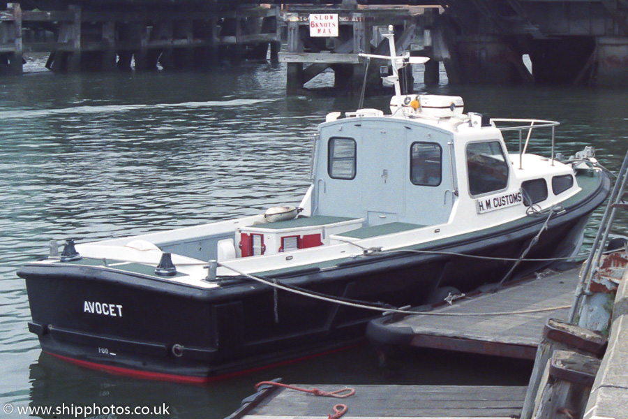Avocet pictured at Poole on 16th April 1989