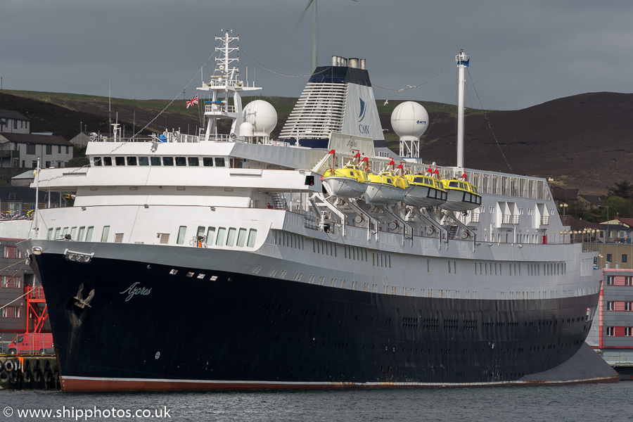 Azores pictured at Lerwick on 20th May 2015