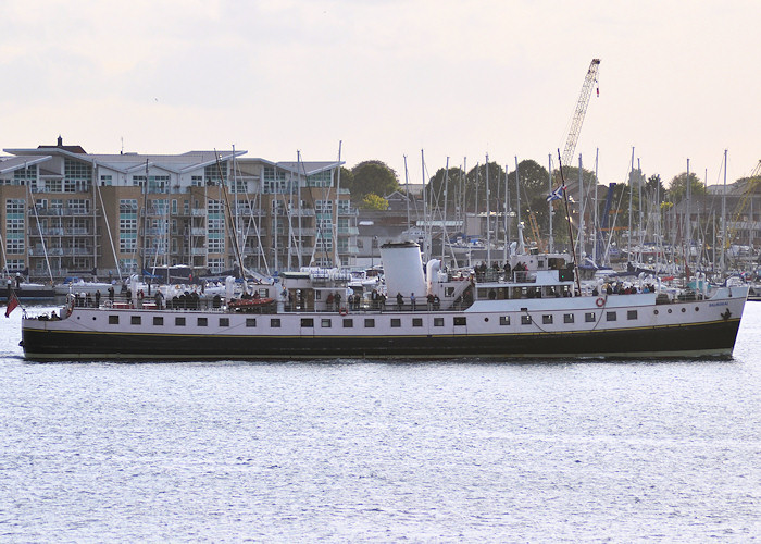 Balmoral pictured in Portsmouth Harbour on 7th August 2011
