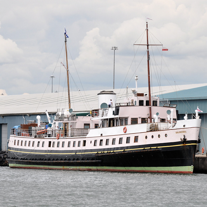 Balmoral pictured in Southampton Docks on 20th July 2012