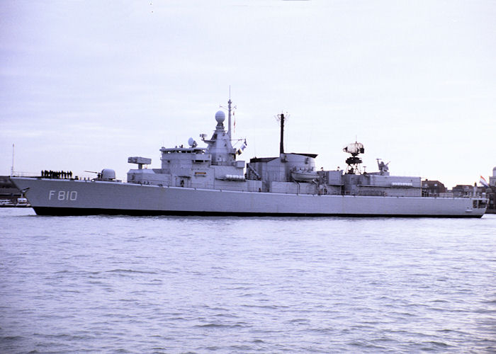 Banckert pictured arriving in Portsmouth Harbour on 1st December 1990