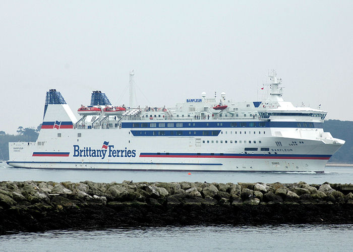 Barfleur pictured arriving in Poole on 23rd April 2006