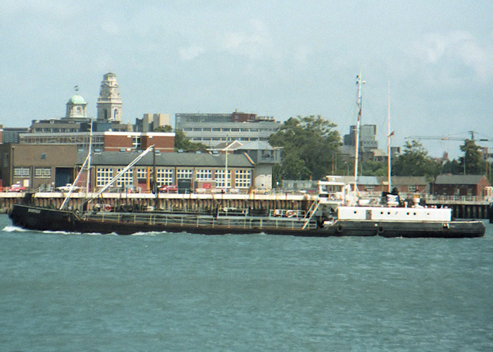 Barrier pictured entering Portsmouth Harbour on 26th July 1988