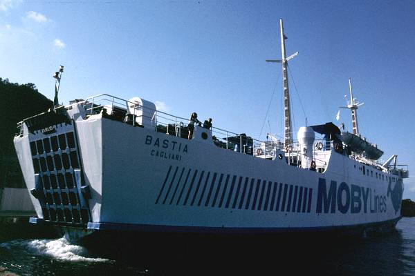 Bastia pictured arriving in Santa Teresa di Galura on 31st August 1999