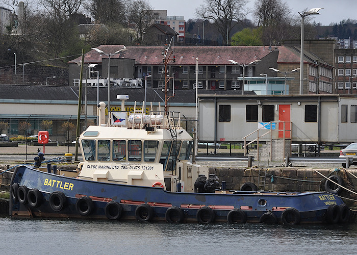 Battler pictured in Victoria Harbour, Greenock on 6th April 2012