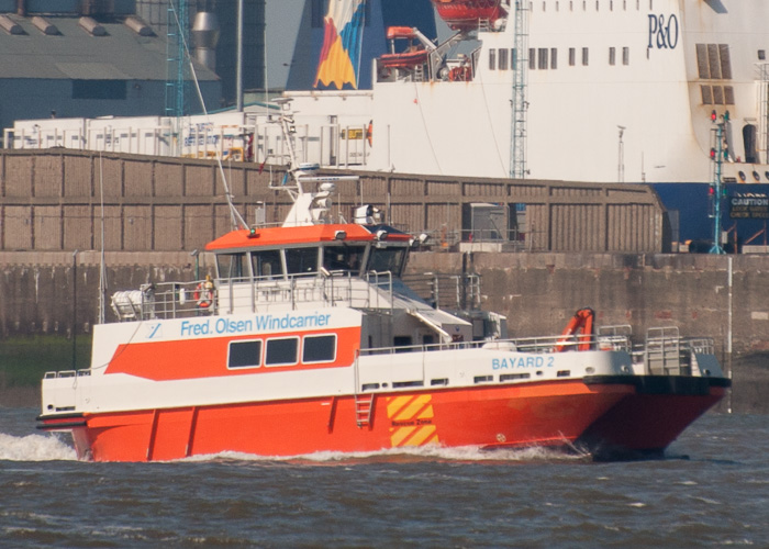 Bayard 2 pictured arriving at Liverpool on 31st May 2014