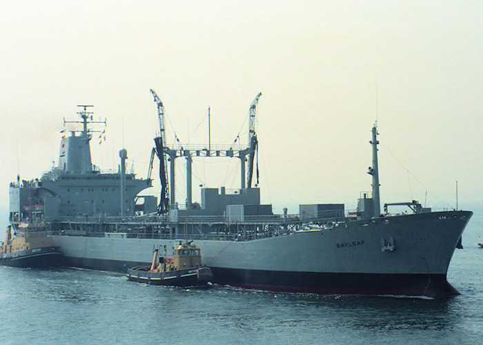 Bayleaf pictured entering Portsmouth Harbour on 14th May 1988