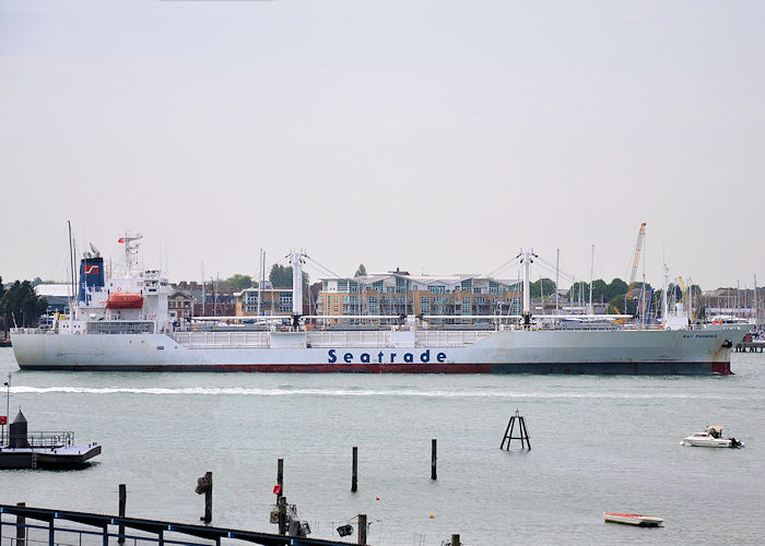 Bay Phoenix pictured arriving at Portsmouth on 7th June 2013