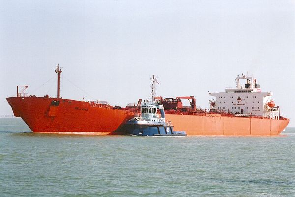Berana pictured arrving at Fawley on 22nd September 2001
