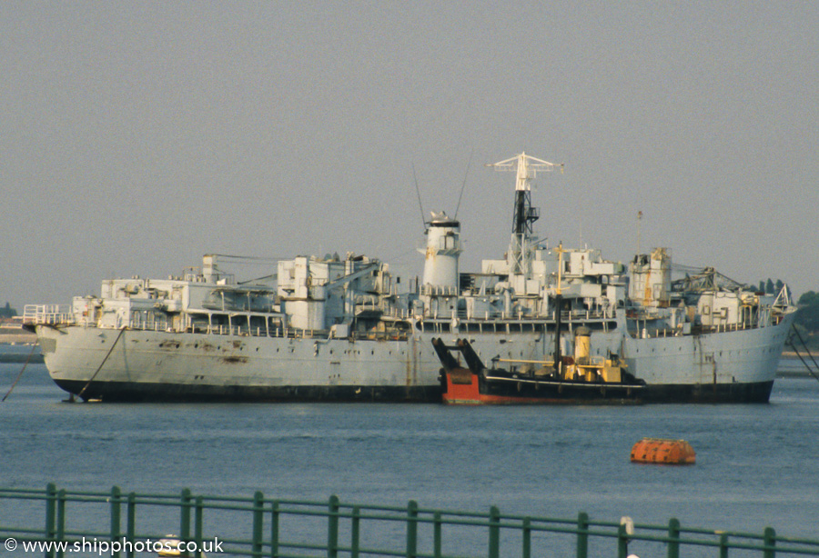 Berry Head pictured laid up in Portsmouth Harbour on 5th August 1989