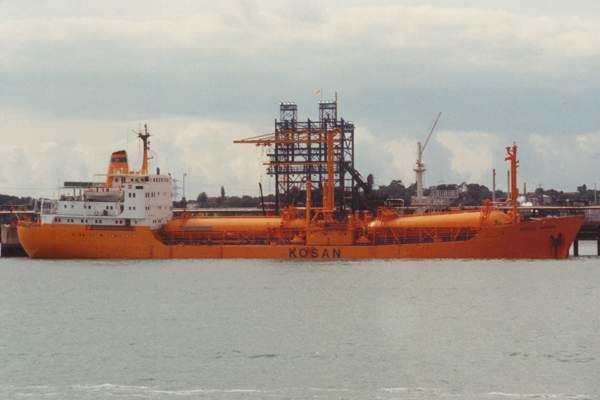 Betina Kosan pictured at Fawley on 5th September 1992