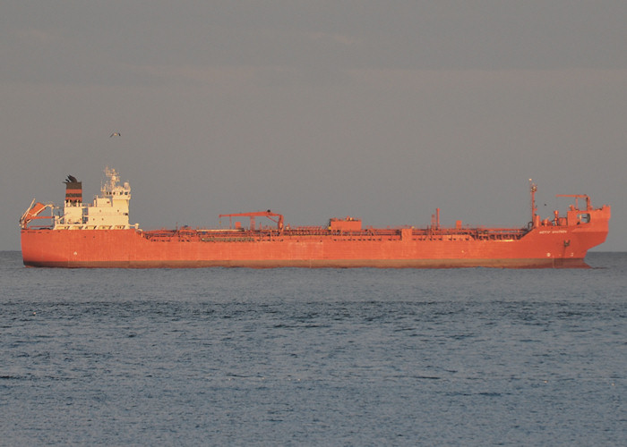 Betty Knutsen pictured at anchor in Aberdeen Bay on 16th September 2012