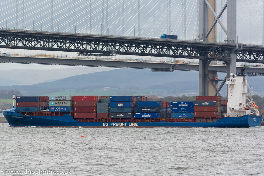 BG Ireland pictured at passing Queensferry on 14th April 2017