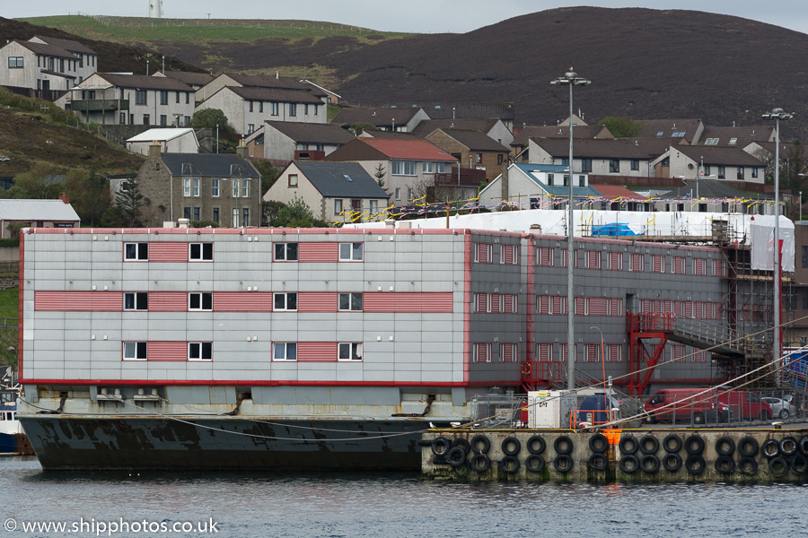 Bibby Stockholm pictured at Lerwick on 20th May 2015