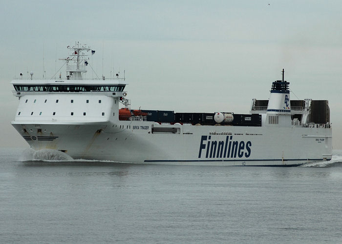 Birka Trader pictured in the Thames Estuary on 6th May 2006