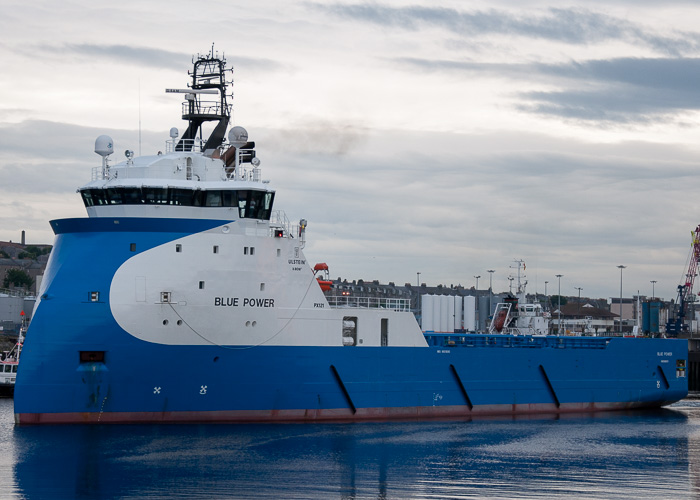Blue Power pictured departing Aberdeen on 12th June 2014