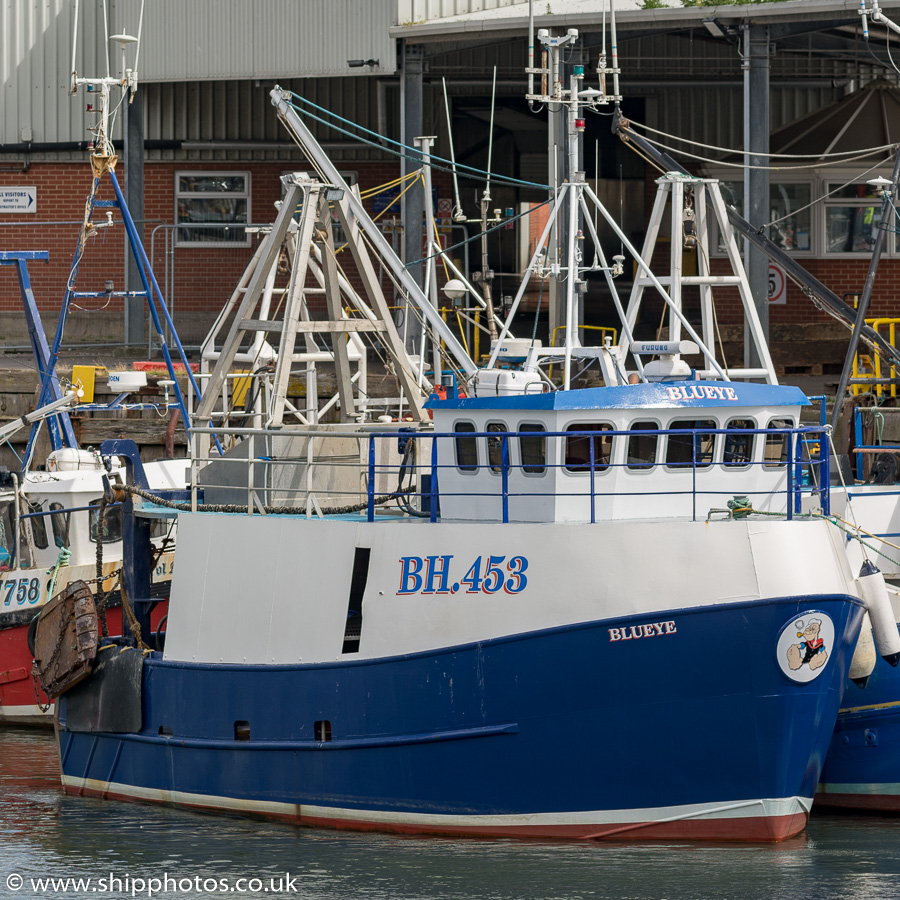 Blueye pictured at the Fish Quay, North Shields on 11th August 2018