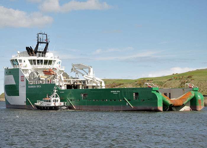 Bourbon Orca pictured departing Aberdeen on 13th May 2013