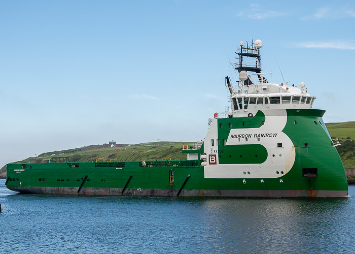 Bourbon Rainbow pictured arriving at Aberdeen on 10th June 2014