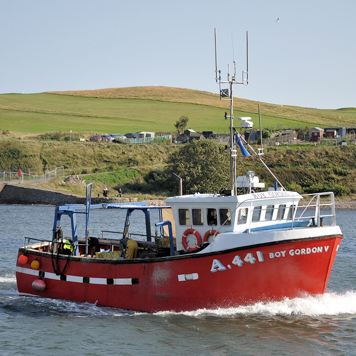 Boy Gordon V pictured arriving at Aberdeen on 15th September 2012