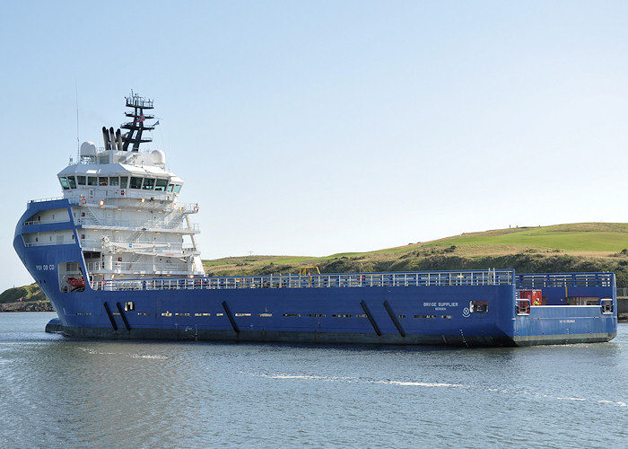 Brage Supplier pictured departing Aberdeen on 14th September 2012
