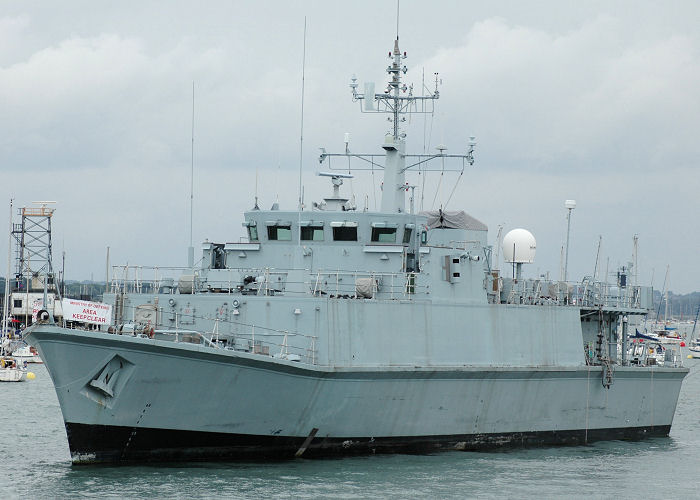Bridport pictured laid up in Portsmouth Harbour on 3rd July 2005
