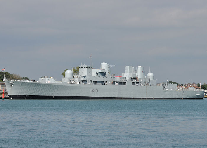Bristol pictured laid up in Portsmouth Naval Base on 10th June 2013