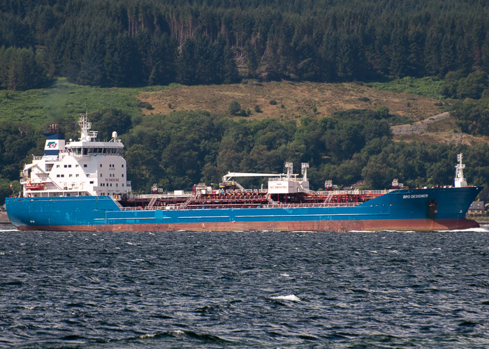 Bro Designer pictured approaching Finnart on 9th August 2014