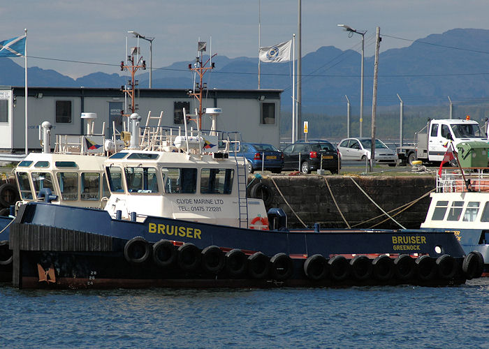 Bruiser pictured in Victoria Harbour, Greenock on 7th May 2010