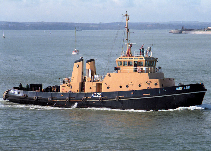 Bustler pictured at the entrance to Portsmouth Harbour on 1st April 1988