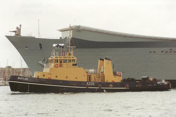 Bustler pictured in Portsmouth Harbour on 1st August 1994