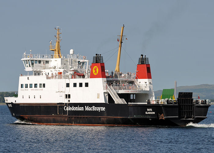 Bute pictured departing Rothesay on 7th July 2013