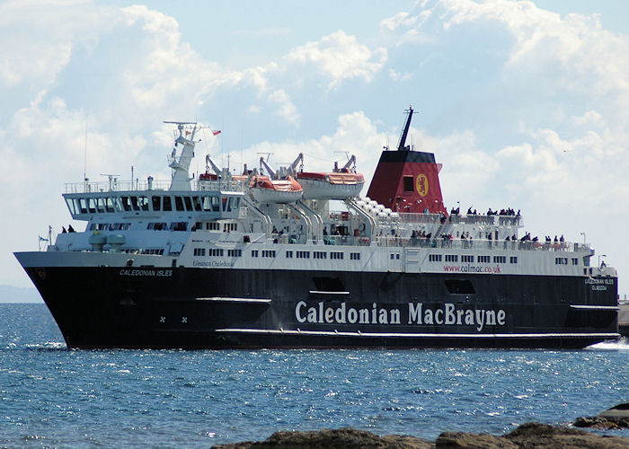 Caledonian Isles pictured departing Brodick for Ardrossan on 3rd May 2010