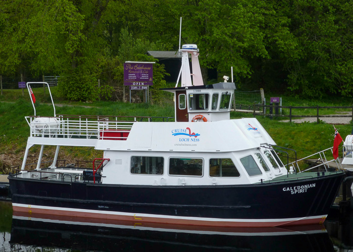 Caledonian Spirit pictured at Fort Augustus on 11th May 2014