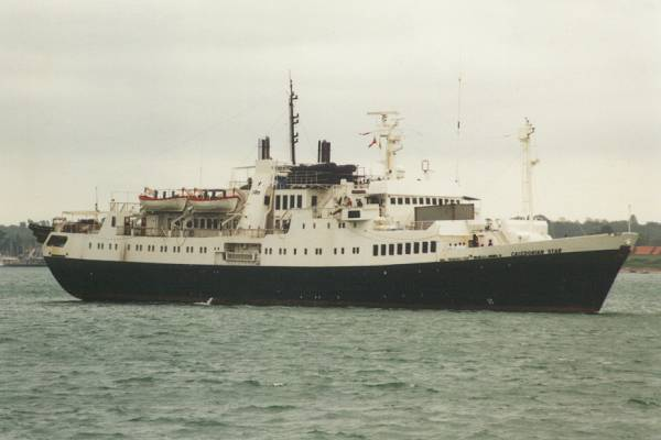 Caledonian Star pictured arriving in Southampton on 7th May 1998
