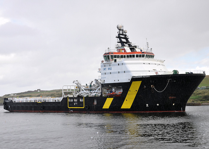 Caledonian Victory pictured arriving at Aberdeen on 14th September 2012