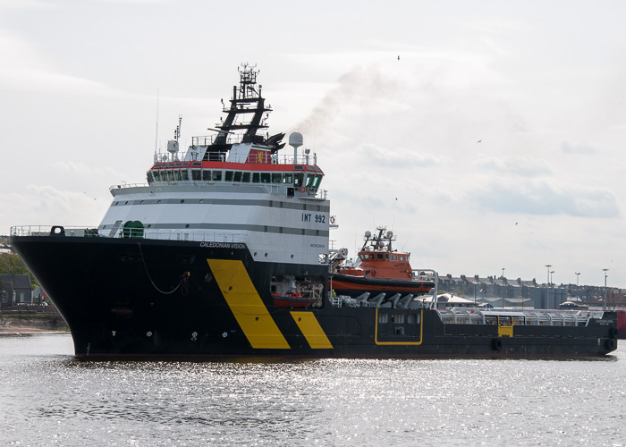 Caledonian Vision pictured departing Aberdeen on 3rd May 2014