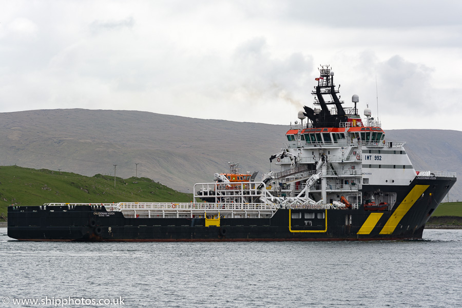 Caledonian Vision pictured at Scalloway on 20th May 2015