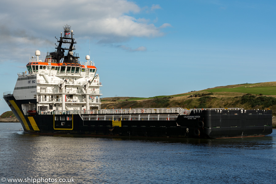 Caledonian Vision pictured departing Aberdeen on 19th September 2015
