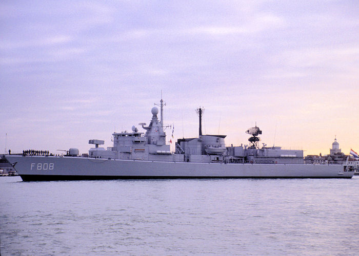 Callenburgh pictured arriving in Portsmouth Harbour on 1st December 1990