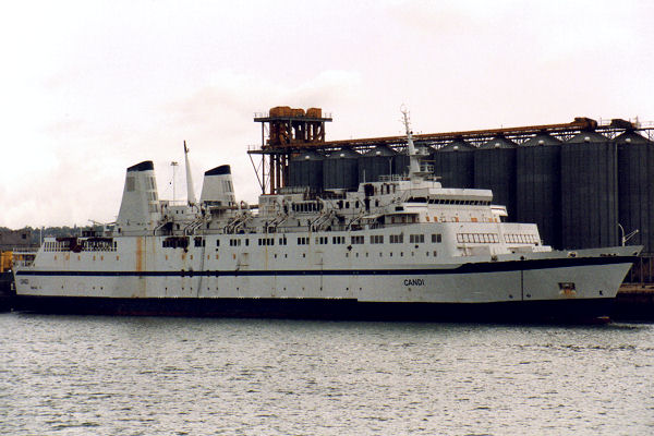 Candi pictured laid up at Southampton on 16th August 1992