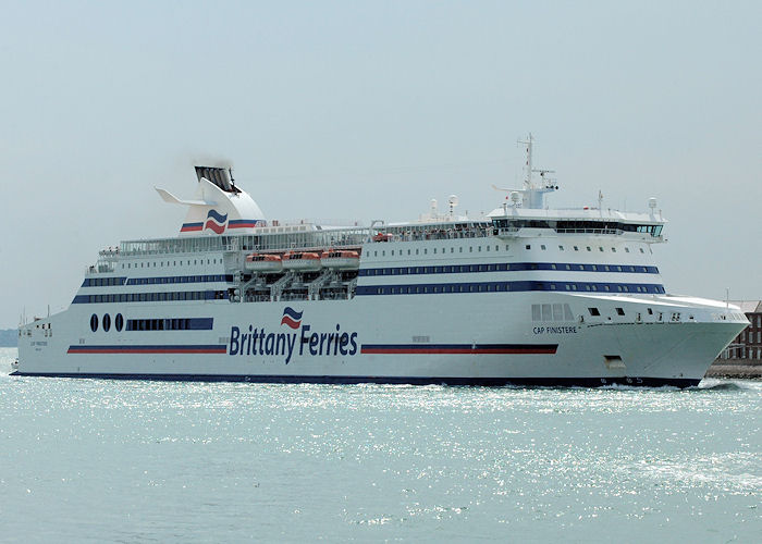 Cap Finistere pictured entering Portsmouth Harbour on 15th August 2010