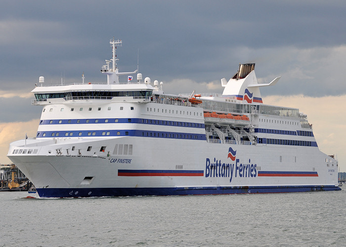 Cap Finistere pictured departing Portsmouth Harbour on 20th July 2012